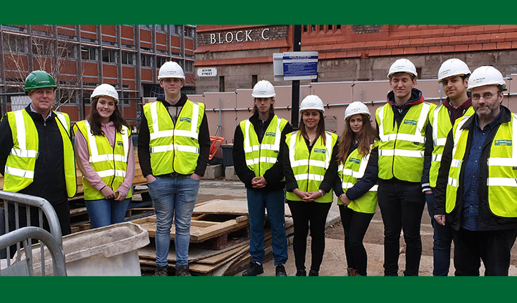 Students visit University of Liverpool project